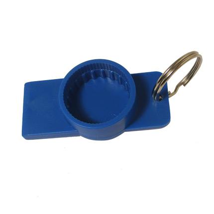 Брелок-открывашка, цвет синий