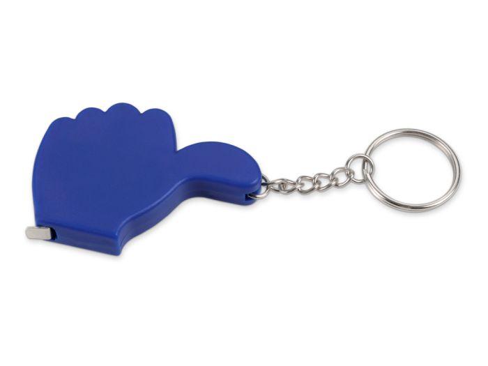 """Брелок-рулетка """"Like"""", 1 м, цвет синий"""
