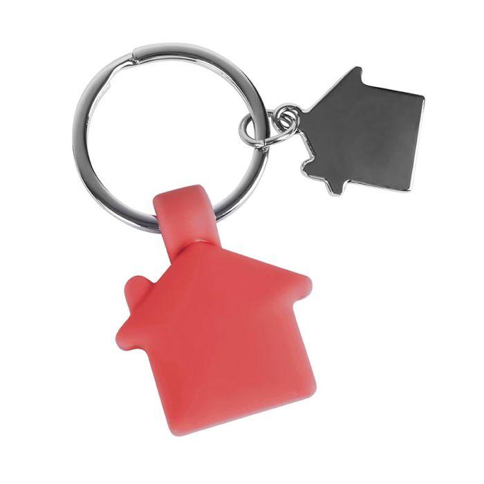 Брелок HOME, с покрытием SOFT TOUCH, красный