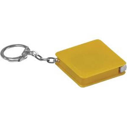 Брелок-рулетка, длина 1 м, с карабином, цвет жёлтый