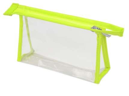 Прозрачная пластиковая косметичка Lucy, цвет зелёное-яблоко