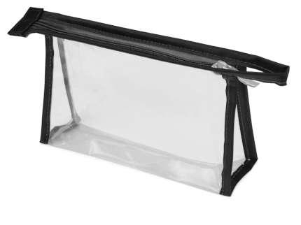 Прозрачная пластиковая косметичка Lucy, цвет чёрный