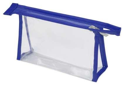 Прозрачная пластиковая косметичка Lucy, цвет синий