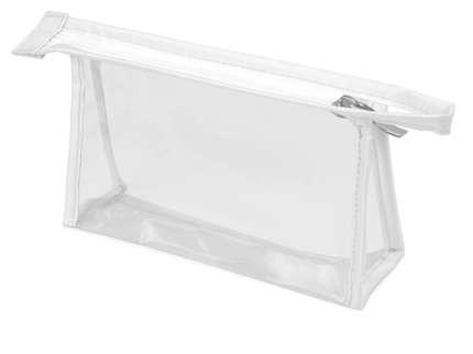 Прозрачная пластиковая косметичка Lucy, цвет белый