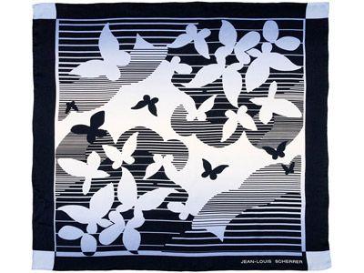 """Платок шелковый Jean-Louis Scherrer модель """"Papillons"""""""