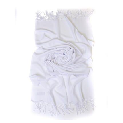 Палантин однотонный 70х200 см, цвет белый