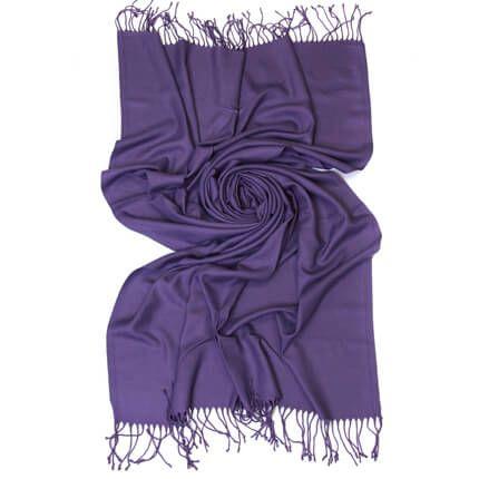Палантин однотонный 70х200 см, цвет неяркий фиолетовый