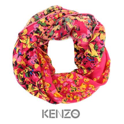 """Платок KENZO, """"Блюз"""", 140x140 см, 100% шерсть, в подарочной упаковке"""