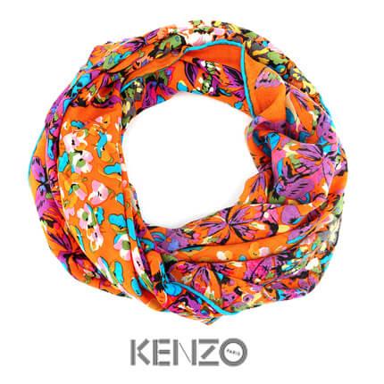 """Платок KENZO, """"Этюд"""", 140x140 см, 100% шерсть, в подарочной упаковке"""