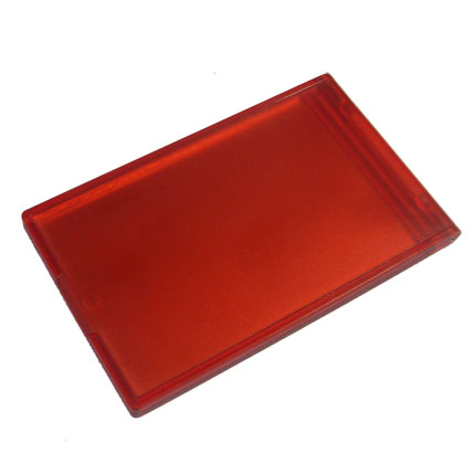 Дамское складное зеркальце, цвет красный
