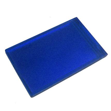 Дамское складное зеркальце, цвет синий