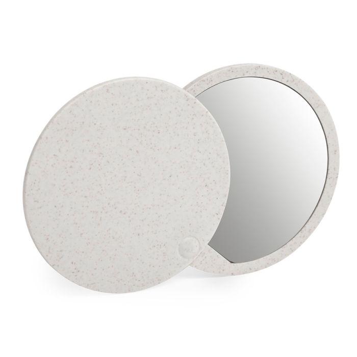 Складное зеркало GRADIOX, пластик с пшеничным волокном, белый