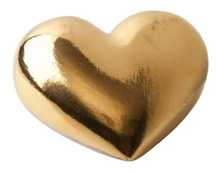 "Фарфоровое сердце ""Golden Heart"""