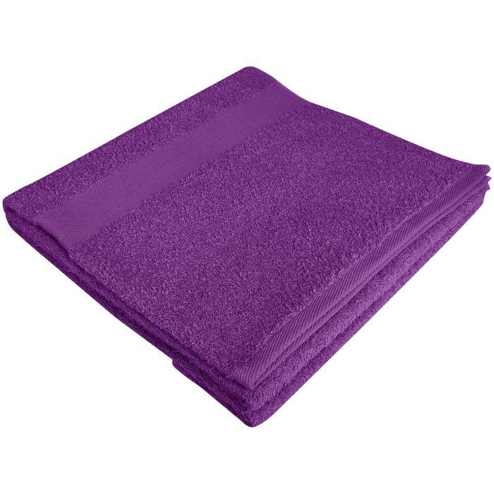 Полотенце махровое Large, 140х70 см, фиолетовое
