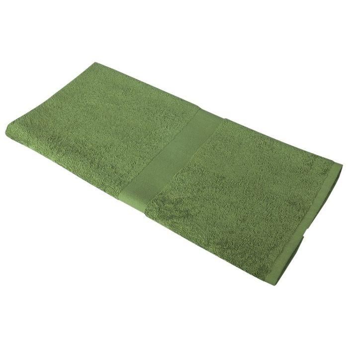 Полотенце махровое Medium, 100х50 см, зелёное