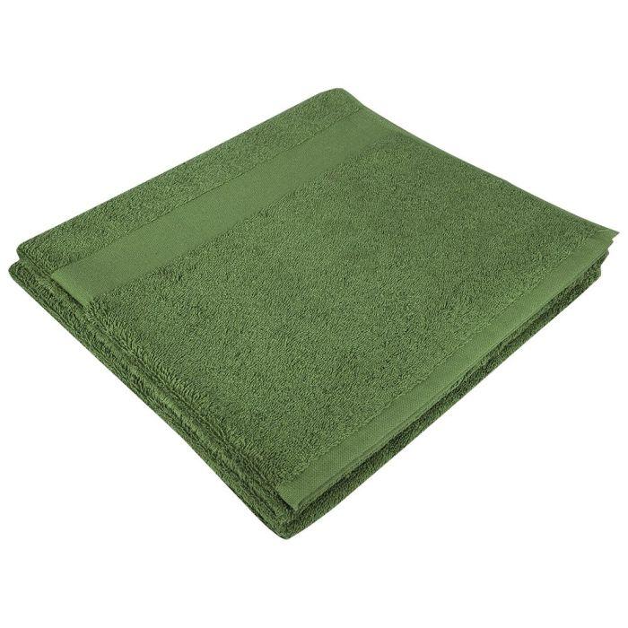 Полотенце махровое Large, 140х70 см, зелёное