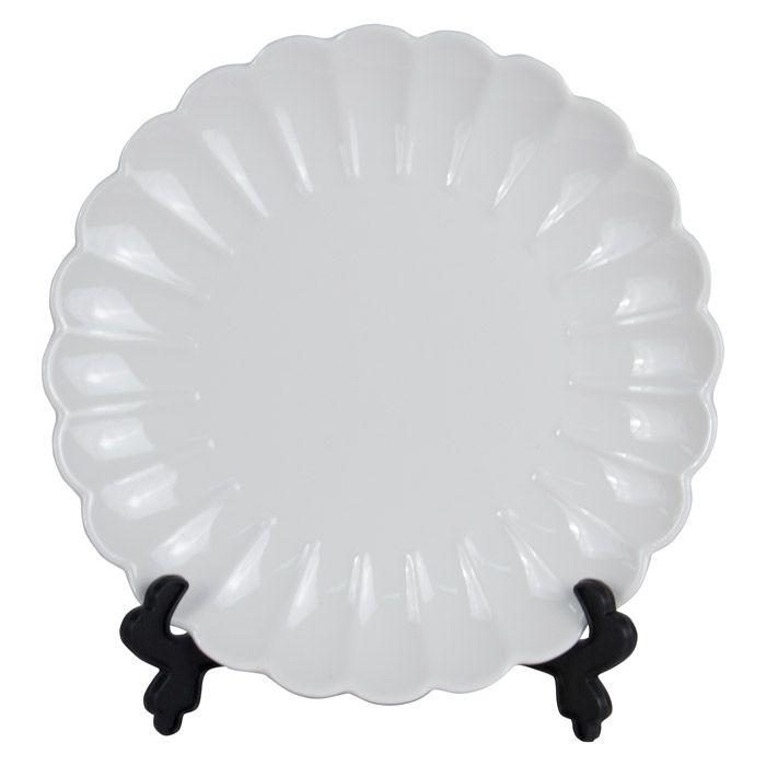 Тарелка для 3D сублимации фарфоровая, волнистая, 21 см, белая