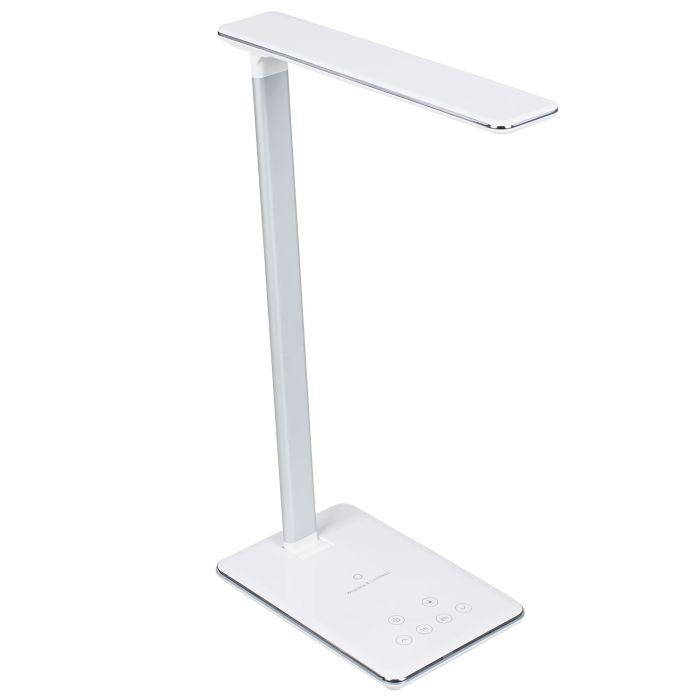 Настольная лампа с беспроводной зарядкой Power Spot, белая