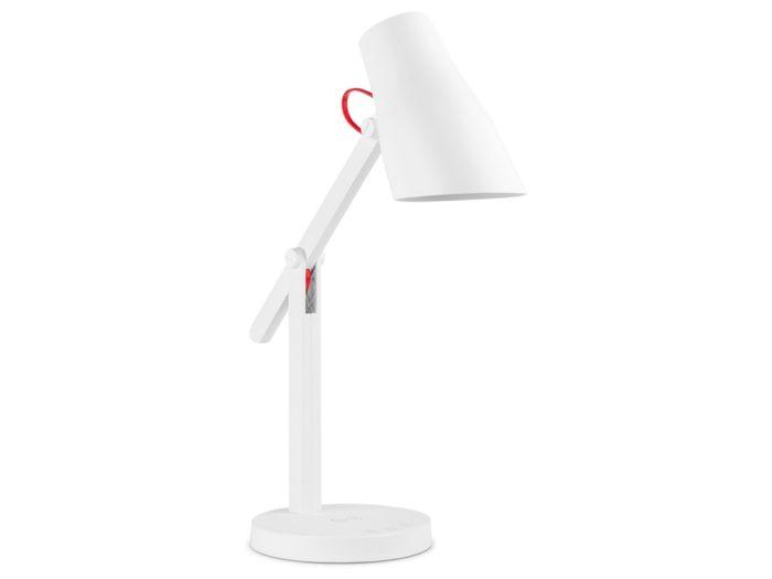 Настольная лампа c беспроводной зарядкой LED L1, 250Лм, 4.5 Вт, Qi, диммер, таймер, бел