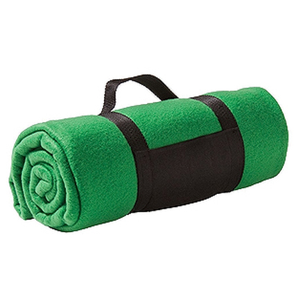 "Плед ""Color"" из флиса, размер 130х150 см, зелёный"