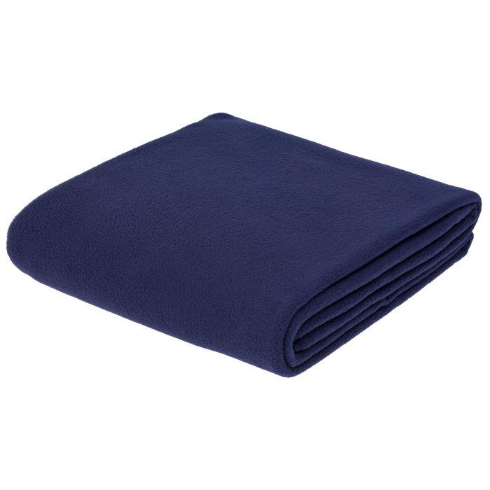 Флисовый плед Warm-Peace, 100х140 см, синий