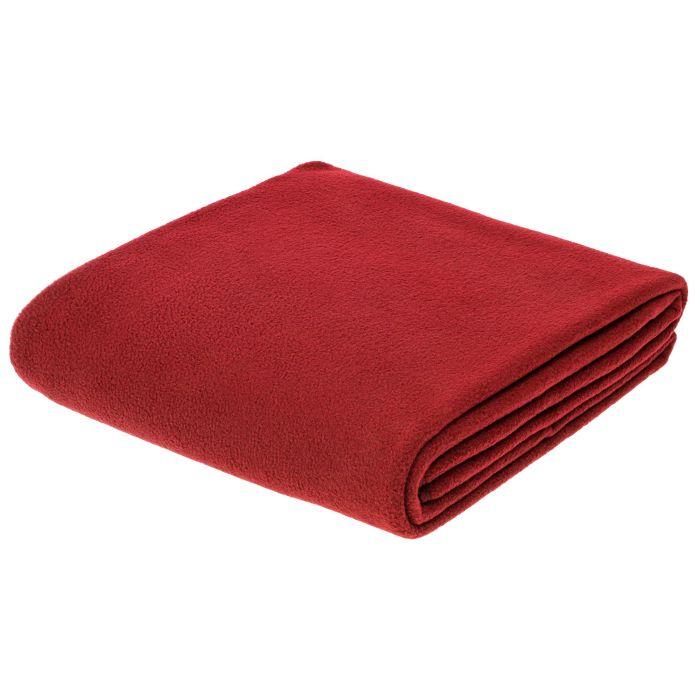 Флисовый плед Warm-Peace, 100х140 см, красный