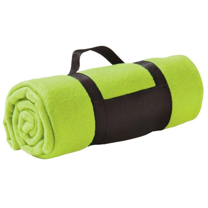 "Плед ""Color"" из флиса, размер 130х150 см, светло-зелёный"
