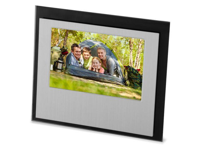 """Рамка для фотографии """"Баэса"""", цвет серебристый с чёрным"""