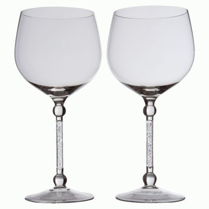 "Пара бокалов для вина ""Фантазия"", с кристаллами"