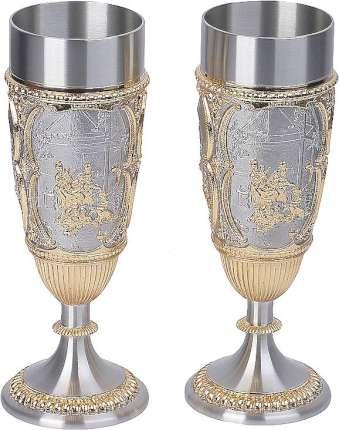 Набор: 2 кубка для шампанского в подарочной коробке