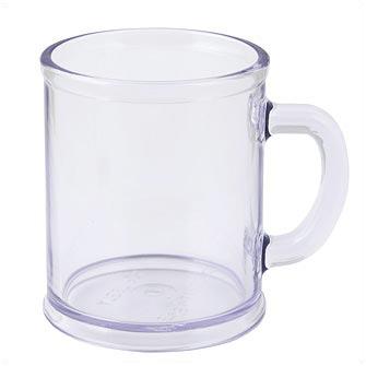 Кружка пластмассовая Lekker, цвет прозрачный бесцветный