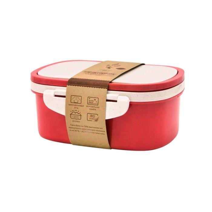 Ланчбокс (контейнер для еды) Paul - Красный PP, 1000 мл