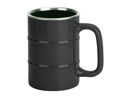 """Кружка """"Баррель"""" на 400 мл, черная"""