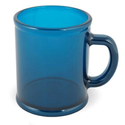 Кружка пластмассовая Lekker, цвет прозрачный сине-зелёный