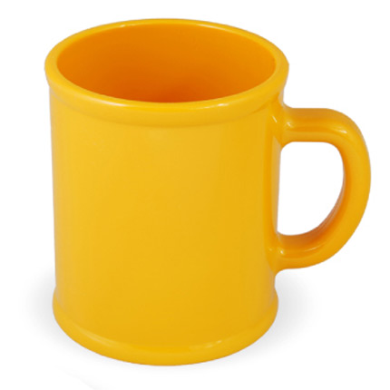 Кружка пластмассовая Lekker, цвет жёлтый