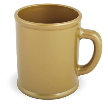 Кружка пластмассовая Lekker, цвет золотой