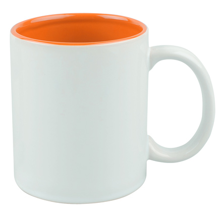"""Кружка керамическая """"Gain"""", 320 мл, снаружи белая, внутри оранжевая"""