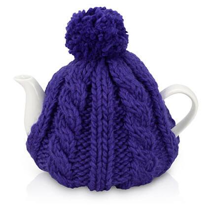 "Чайник фарфоровый ""Шапочка"", объём 750 мл, цвет шапки синий"