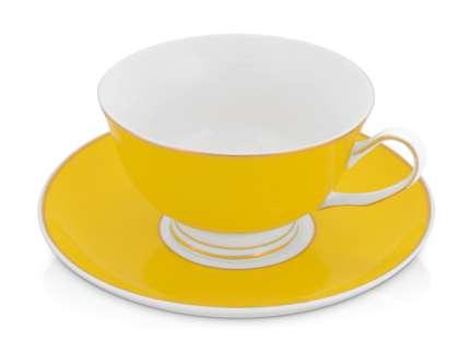 """Чайная пара """"Прованс"""", жёлтая"""