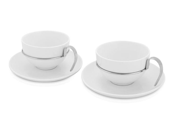 "Чайный набор из двух чашек на 400 мл с блюдцами ""Ice Rink"""