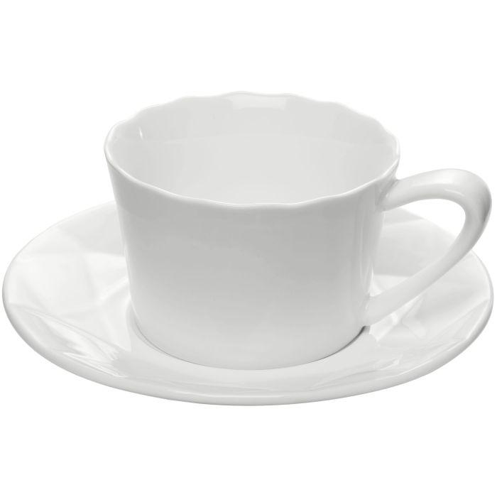 Чайная пара Diamante Bianco, белая
