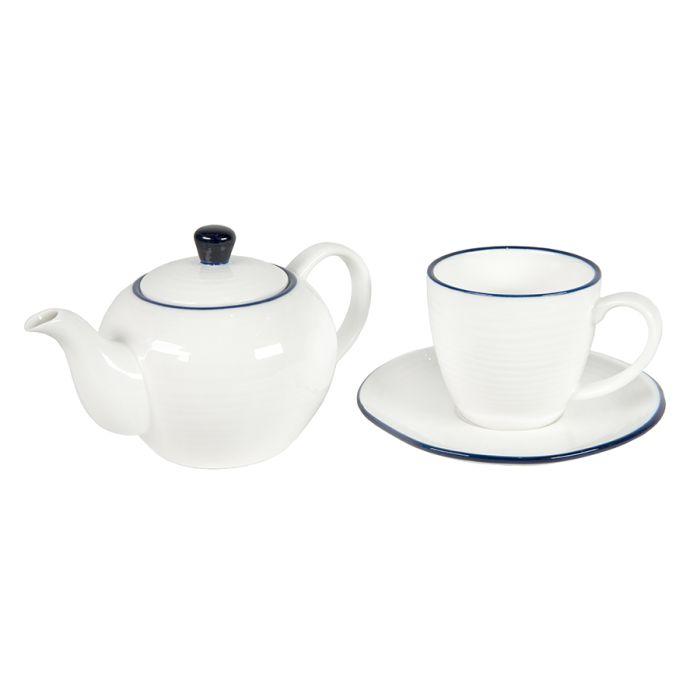 Набор SEAWAVE: чайная пара и чайник в подарочной упаковке
