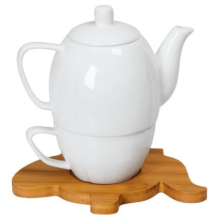 """Набор """"Мария"""": чайник и чайная пара в подарочной упаковке"""
