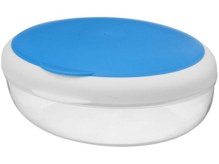 """Контейнер для ланча """"Maalbox"""", объём 400 мл, цвет белый с синим"""