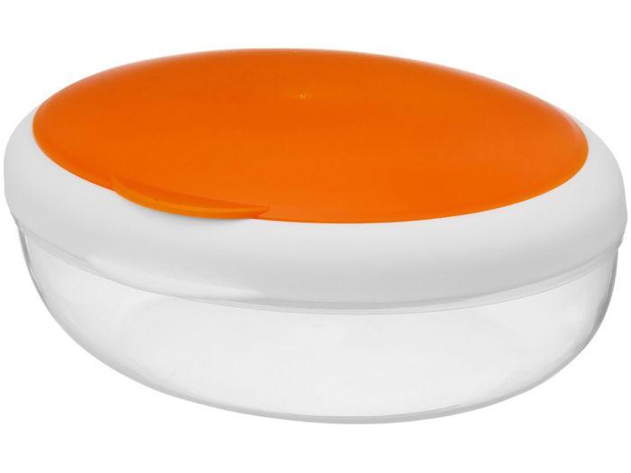 """Контейнер для ланча """"Maalbox"""", объём 400 мл, цвет белый с оранжевым"""