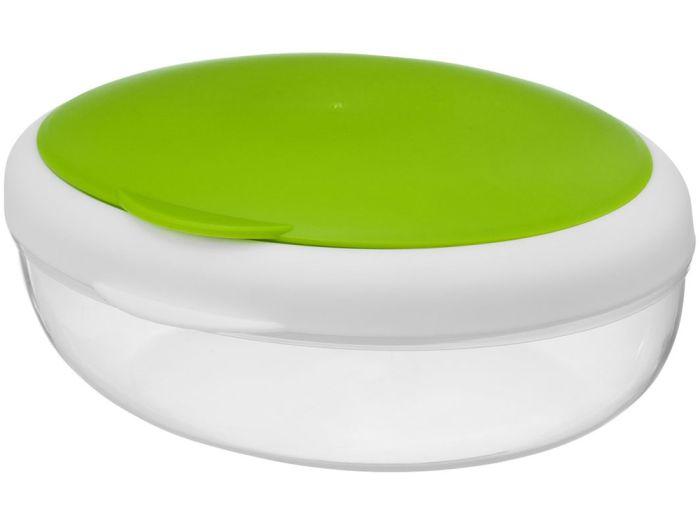 """Контейнер для ланча """"Maalbox"""", объём 400 мл, цвет белый с зелёным"""