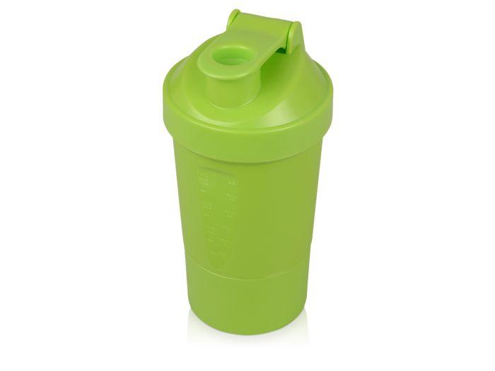 """Шейкер для спортивного питания """"Level Up"""", 400 мл, зелёный"""
