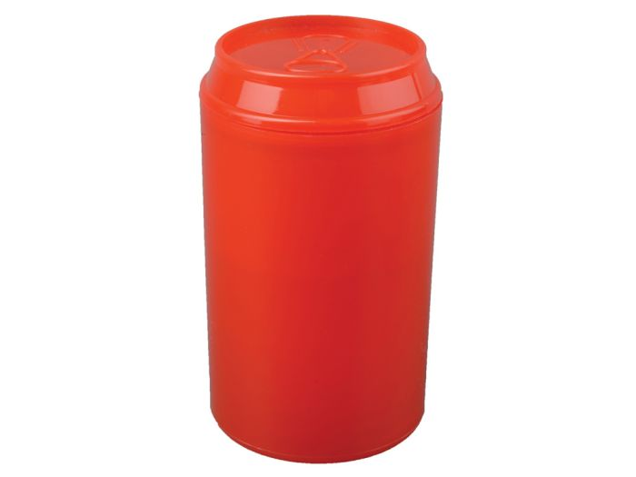 """Набор """"Plastglass"""": 4 стакана (125 мл) с открывалкой, цвет красный"""