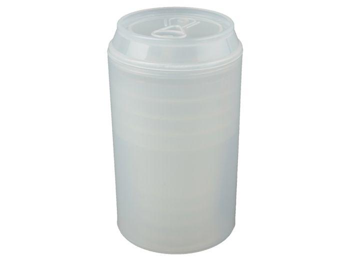 """Набор """"Plastglass"""": 4 стакана (125 мл) с открывалкой, цвет белый"""