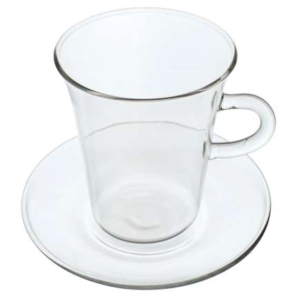 Чашка с блюдцем Glass Duo, объём 250 мл